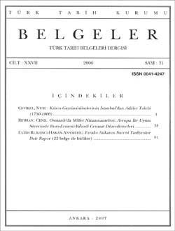 Belgeler 31. Sayı, 2006