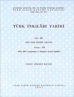 Türk İnkılâbı Tarihi III-III, 1991