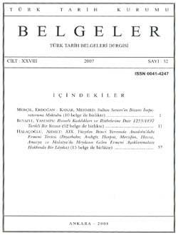 Belgeler 32. Sayı, 2007