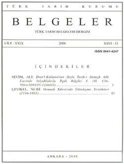 Belgeler 33. Sayı, 2008