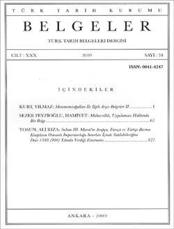 Belgeler 34. Sayı, 2009