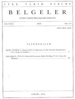Belgeler 35. Sayı, 2010