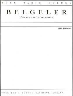 Belgeler 16. Sayı, 1987