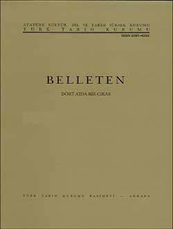 Belleten 085. Sayı, 1958