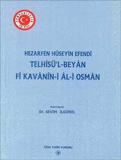 Telhîsü`l-Beyân Fî Kavânîn-i Âl-i Osmân, 1998