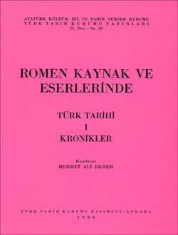 Romen Kaynak ve Eserlerinde Türk Tarihi, 1993