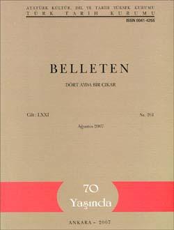 Belleten 261. Sayı, 2007