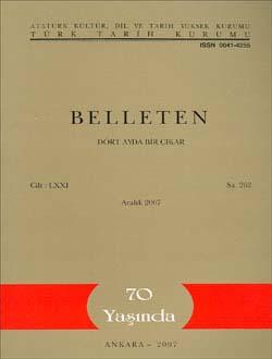 Belleten 262. Sayı, 2007