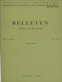 Belleten 263. Sayı, 2008