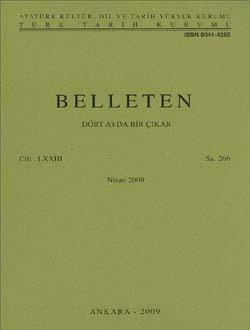 Belleten 266. Sayı, 2009