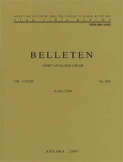 Belleten 268. Sayı, 2009