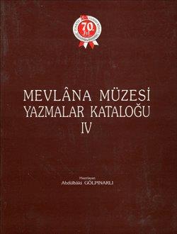 Mevlana Müzesi Yazmalar Kataloğu 4, 1994