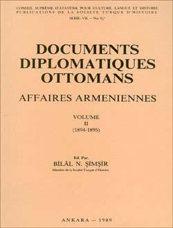 Documents Diplomatiques Ottomans Affaires Armeniennes - II, 1989