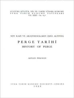 Perge Tarihi; History Of Perge, 1989