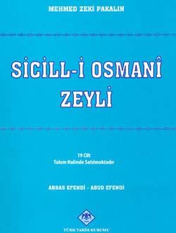 Sicill-i Osmanî Zeyli (XIX Cilt - Takım Halinde), 2008